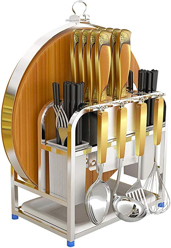 Cutting Board Knife Organizer With Hook Stainless Steel Kitchen Utensils Cutting Board Knife Chopsticks Spoon Fork