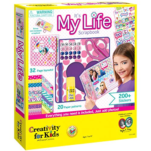 Creativity For Kids It's My Life Scrapbook Kit - Complete DIY Scrapbook Craft Kit Multicolor, 9 inches