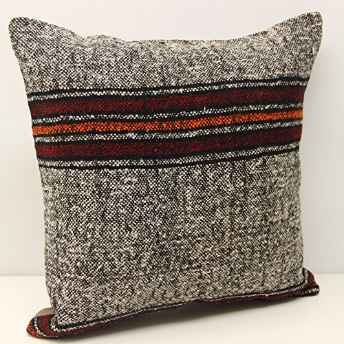 Anatolian pillow cover 18x18 inch (45x45 cm) Oriental Kilim pillow Home Design Decorative Pillow cover Chevron Kilim Throw pillow Cushion Cover