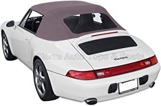 Sierra Auto Tops Convertible Soft Top Replacement, compatible with Porsche 993 Carrera 1994-1998, German A5 Canvas, Graphite Gray