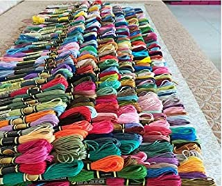 Maslin cxc Threads 447 Colors Available Embroidery/Cross Stitch Floss Yarn Thread Mix Colors Or Choose Your Needed Colors - (Color: Purple, Size: 447 pcs Different)