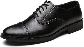 [HIMAWARI] 革靴 ビジネスシューズ 内羽根 ストレートチップ メンズ靴 ドレスシューズ 本革 オフィス 通気性 ブラック24~28