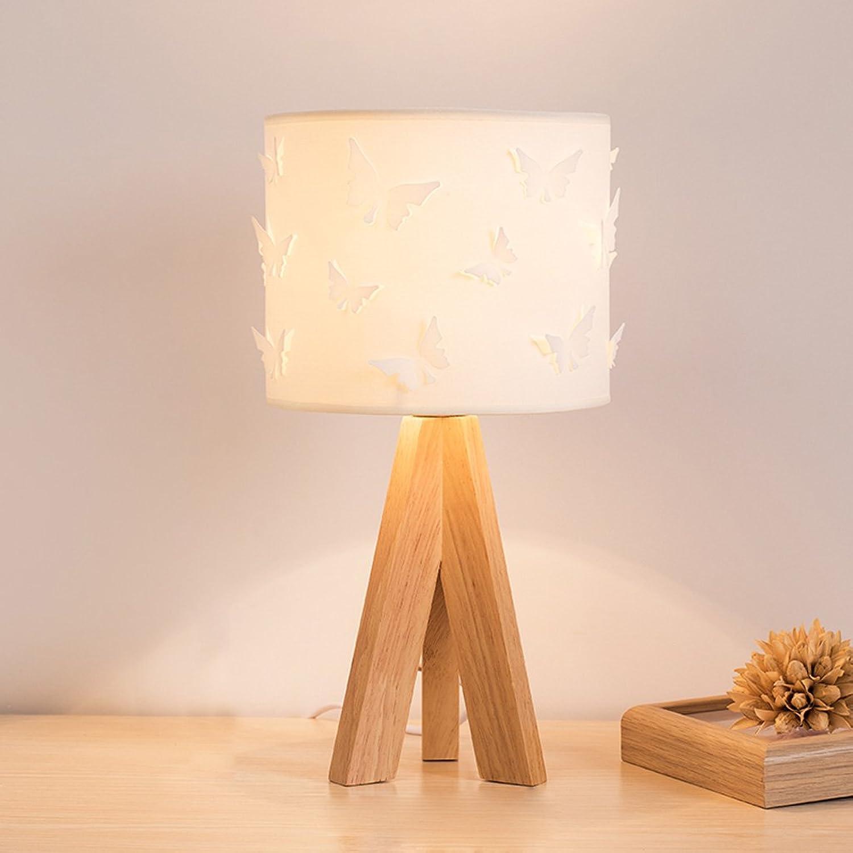 JIAHONG Kreative Farbe LED energiesparende Lampe, niedlichen Schmetterling Bettdecke Schlafzimmer warme solide Holz Lampe, Wohnzimmer Lichter ( Farbe   Weiß ) B07545M3F2 | Adoptieren