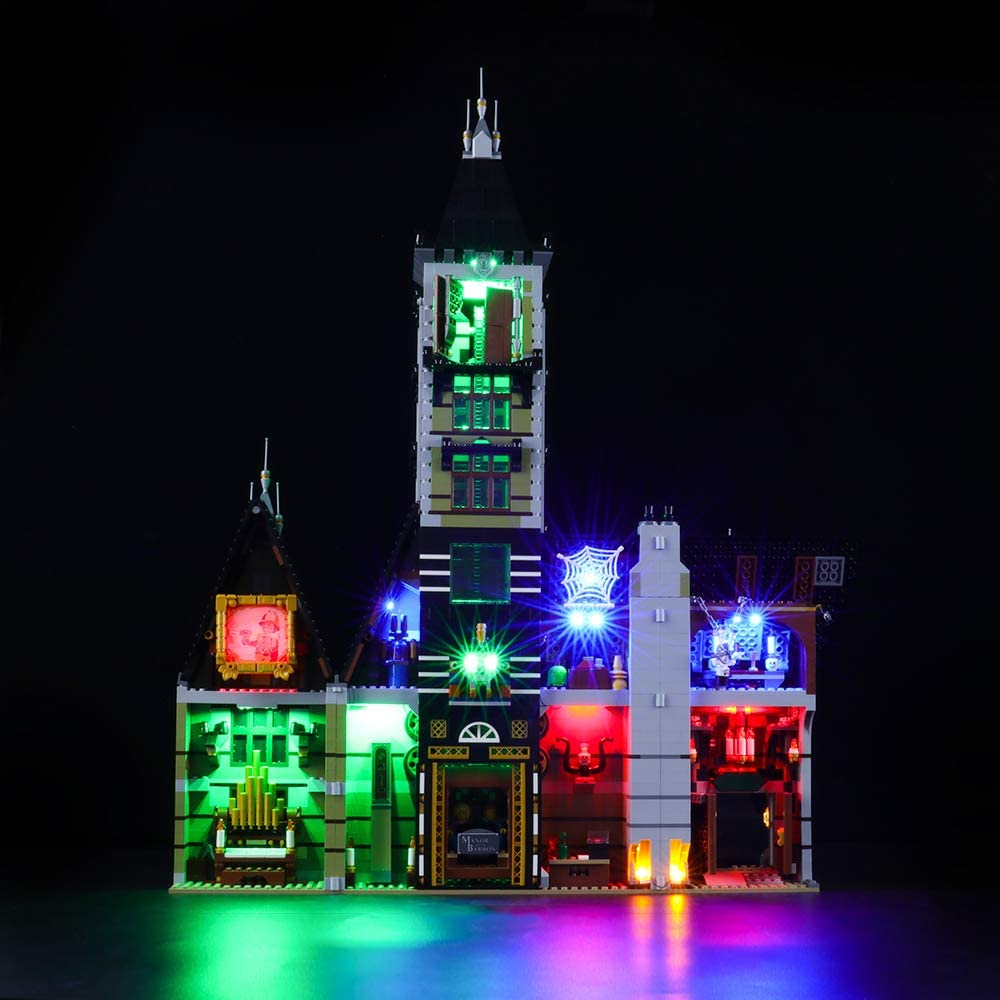 Lightailing Light Set for (Creator Fairground Collection Haunted House Building Blocks Model - Led Light kit Compatible with Lego 10273(NOT Included The Model)