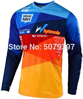 Moto Motocross Jersey Men Jersey Downhill Cycling Mountain Bike Jersey Quick Drying Jersey With Quick Dry Breathable Fabri...
