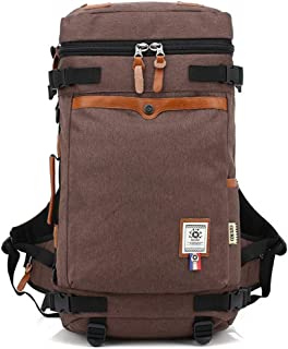 Daypacks Men's Travel Backpack Casual Outdoor Hiking Waterproof Oxford Cloth Laptop Daypack Commerce Business Trip Best Travel Backpack (Color : Khaki)