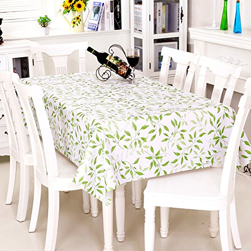Spritech(TM) 53.9 * 39 Indoor Outdoor Spillproof Nonwovens Antependium Rectangular Waterproof PVC Plastic Table Cloth Table Cover by Spritech
