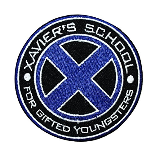Xmen Logo Xavier's School for Gifted Youngsters Marvel IronOn Patch Applique