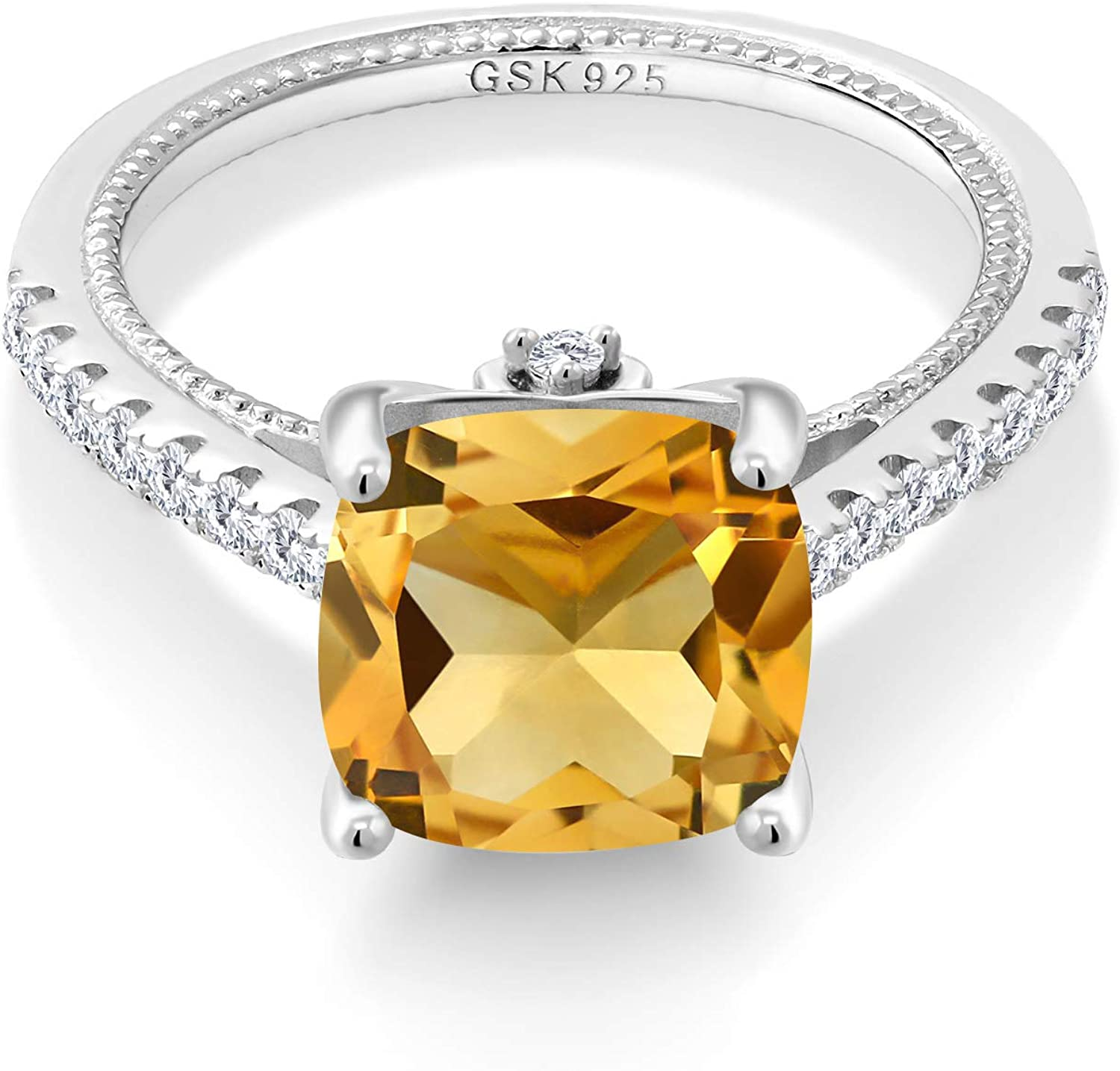 Gem Stone King 925 Sterling SALENEW very popular Silver and Crea Special sale item White Yellow Citrine