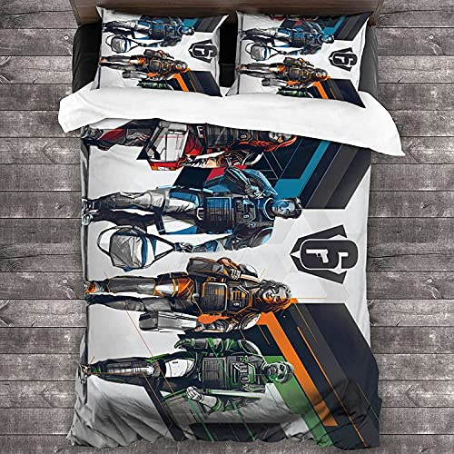 ZSHZSY Rainbow Six Siege - Juego de ropa de cama infantil con 2 fundas de almohada, 135 x 200 cm, microfibra, juego de cama 3D, diseño de bailarinas (Six 1,200 x 200 cm + 80 x 80 cm x 2)