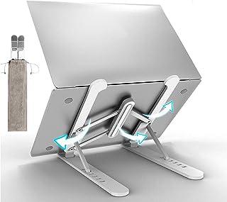 Soporte para laptop, soporte plegable para computadora portátil, elevador desmontable para laptop, soporte ajustable para ...