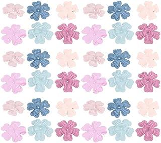 Healifty 60 Pcs Tissu Fleurs pour Artisanat Artificielle Fleur de Cerisier Fleur Tête Fleur Embellissements Décoration de ...