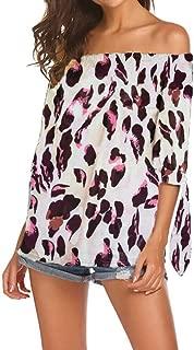Qearal Women Retro Boho Flowy Sheer Chiffon Kimono Cardigan Cover Up Blouse Top