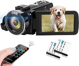 دوربین فیلمبرداری 2.7K Camcorder 42MP 18X دوربین دیجیتال دوربین فیلمبرداری برای YouTube 3.0 اینچ صفحه نمایش دوربین فیلمبرداری Vlogging دوربین با کنترل از راه دور و دو باتری