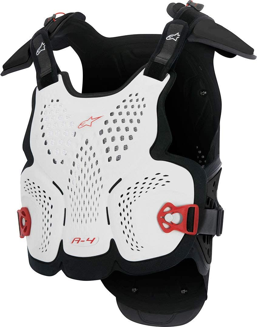 White//Black//Red Alpinestars A-4 Roost Guard