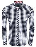 Coofandy Camisa Algodón Hombre Talla Grande XXL Moderno para Jóven Color Azul