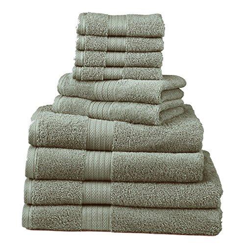 Divatex Home Fashions 10-Piece Deluxe Towel Sets, Cobalt