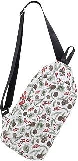 Christmas Mulberry And Red Fruit Multipurpose Crossbody Shoulder Bag,Travel Hiking Daypack,Fashion Sling Bag,Water Resistant Anti Theft Shoulder Backpack.