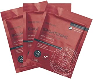 BeautyPro Trio Pack BRIGHTENING Anti-Ageing Collagen Sheet Mask With Vitamin C.