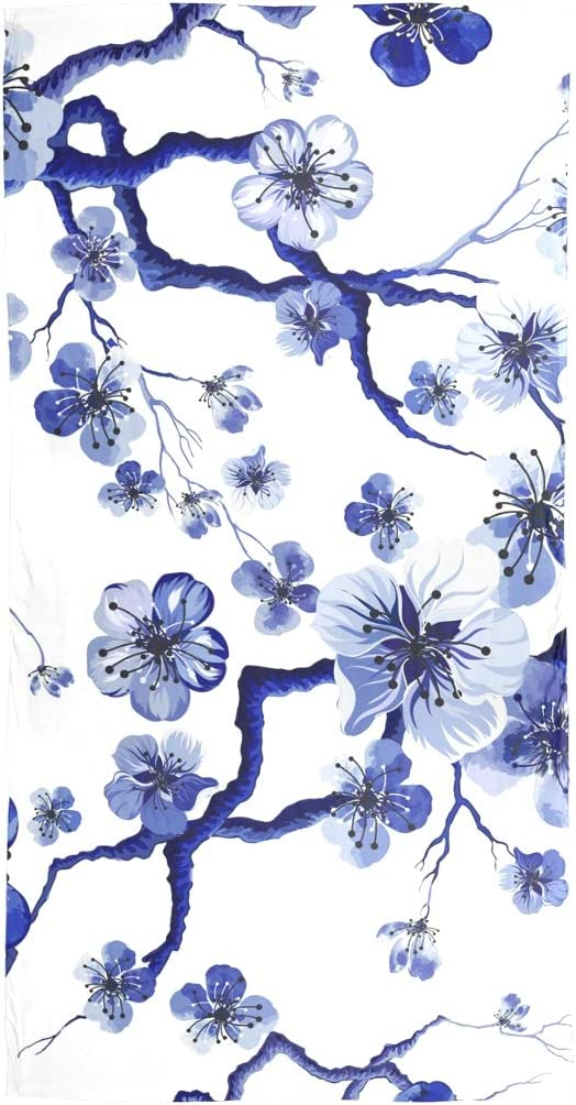 AUUXVA Fashion Scarf Watercolor Floral Japanese Cherry Blossom Long Lightweight Sunscreen Scarf Shawl Wrap Muffler Neckerchief for Women Men