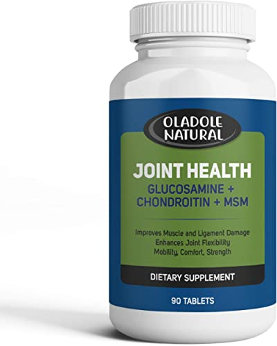 Glucosamine with Chondroitin, MSM Advanced Joint Health Supports Mobility, Flexibility, Strength, Lubrication, Comfor...