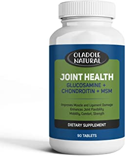 Glucosamine with Chondroitin, MSM Advanced Joint Health Supports Mobility, Flexibility, Strength, Lubrication, Comfort, Oc...