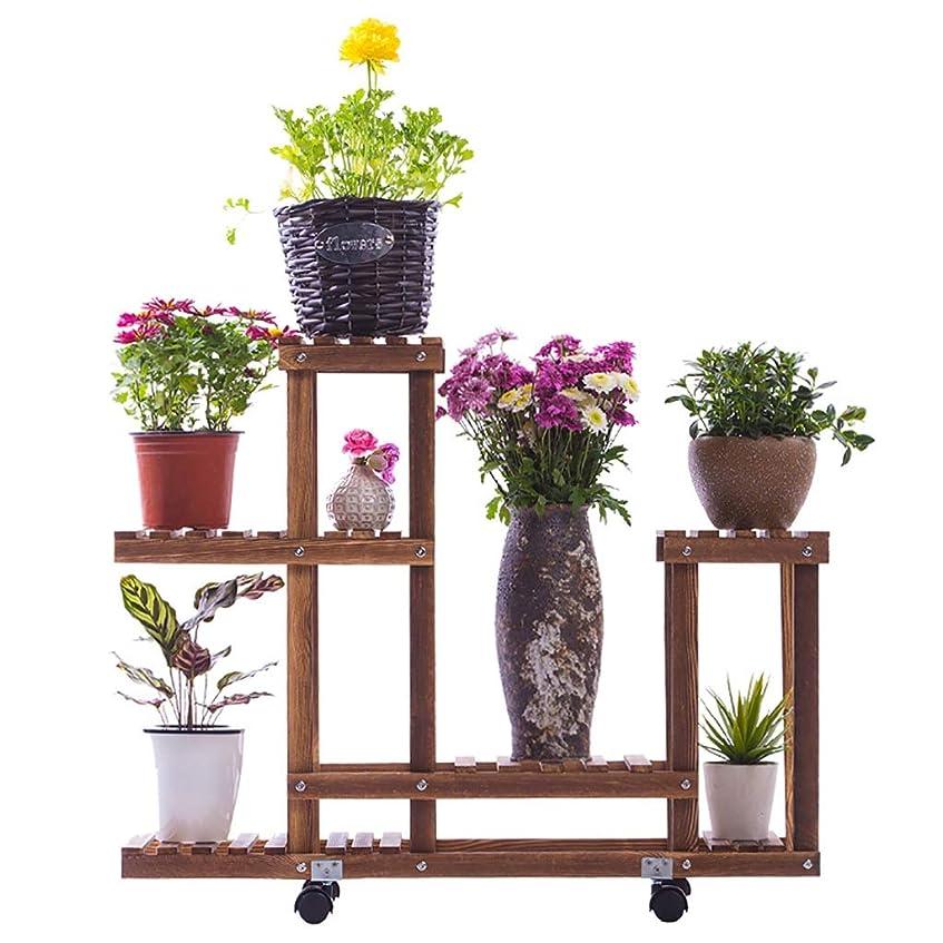 お母さん糞パケットフラワースタンド、木造多層可動輪の花スタンド