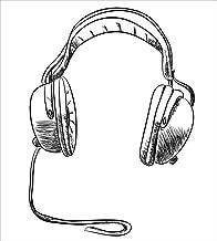 Music Juego de sábanas de 3 piezas Juego de funda nórdica, Estilo de boceto Dibujado a mano DJ Auriculares Rhythm Radio Ilustración moderna de arte hippie, Juego de fundas de edredón / Qulit de 3 piez