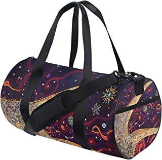 OuLian Duffel Bag Hippie Bird Women Garment Gym Tote Bag Best Sports Bag for Boys