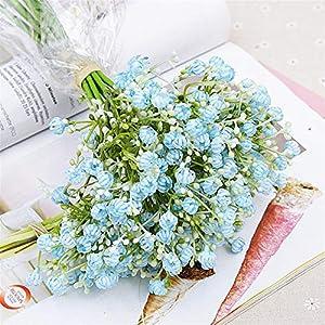 TRRT Fake Plants Gypsophila Artificial Flowers, Long Stem Fake Flowers Bouquet Silk Flowers Wedding Party Home Decoration Fake Flower