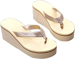 Heaven and Earthvv Femenino de la Playa de los Deslizadores de los Zapatos Ocasionales Atractivo tirón Pendiente Flop Mujer Diapositivas de Bohemia Mollete cuña Mocasín