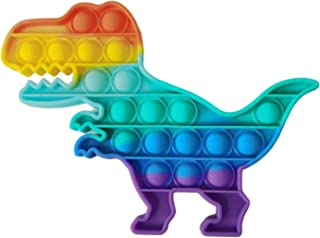 Dinosaurs Push Pop Bubbles Sensory Toy Autism Special Needs Simple Dimple Fidget Toy Good for Kids Adults for Home, Offic...