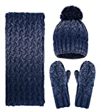 Women Girls Fashion Winter Warm Knitted Hat Beanie Hat...