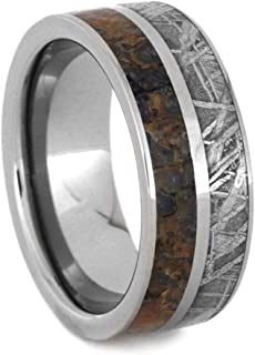 mens wedding ring dinosaur bone