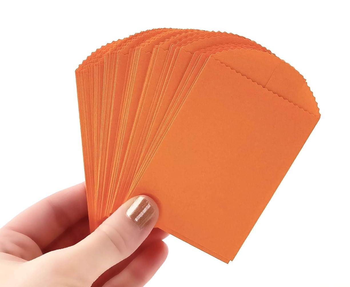 50 Orange Mini Paper Bags - 4