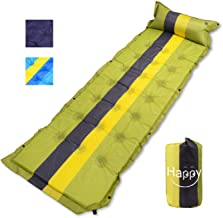 HAPPY PIE PLAY&ADVENTURE 74.8'' x 23.6'' Self-Inflating Hiking Camping Mattress Sleeping Pad with Portable Backpack …