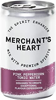 Merchant's Heart Pink Pepper Tonic Water - 24 x 150ml Cans - Enhances The Flavour of Spirits - Soft & Fruity - Perfectly P...