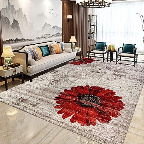 cuadros decorativos modernos para sala alfombra para habitacion Sala de estar Cristal Velvet alfombra marrón resistente al desgaste y fácil de cuidar decoracion de salones 180X250CM 5ft 10.9'X8ft 2.4'