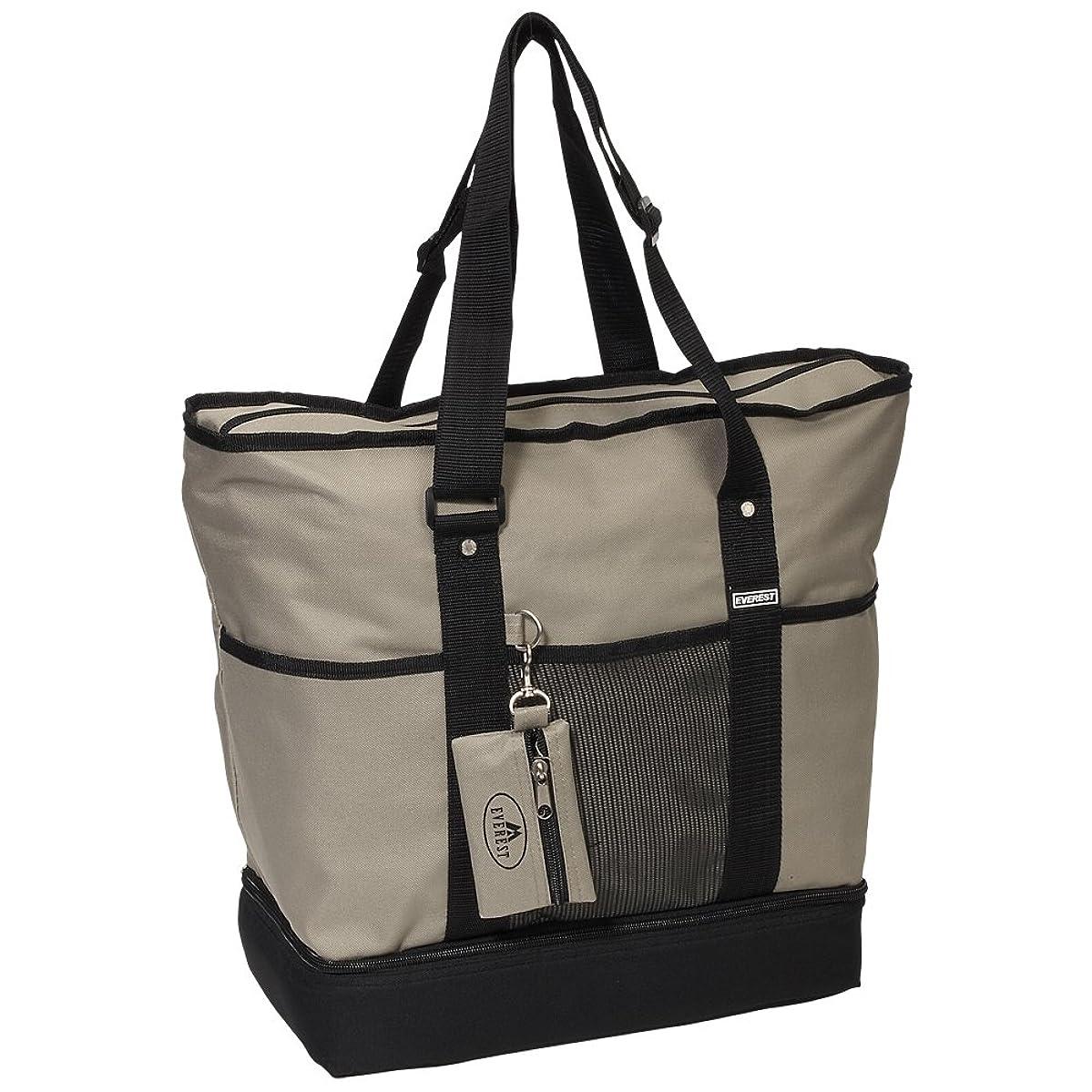 Everest Luggage Deluxe Shopping Tote, Khaki/Black, Khaki/Black, One Size