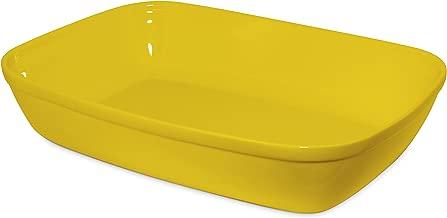 Assadeira Retangular sem Alça Mondoceram Amarelo 33,5 x 23,5 x 6,7 cm