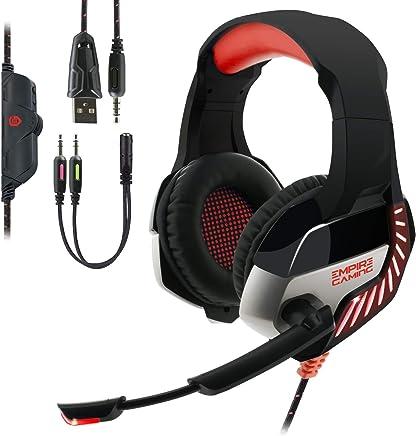 EMPIRE GAMING - Cuffia Gaming H1200 per PC, MAC, Cuffia Gamer per PS4, Nintendo Switch e XBOX One – Suono stereo di alta qualità – Microfono con tecnologia di riduzione del rumore - Trova i prezzi più bassi
