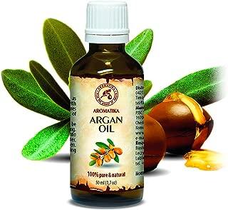 Argan Oil - Argan Oil for Face 1,7 Oz - Organic Argan Oil for Hair - Pure Argan Oil of Morocco - Argania Spinosa Kernel Oil - 100% Cold Pressed Argan Oil 50 ml - by Aromatika