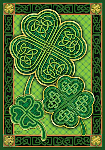 Briarwood Lane Celtic Shamrocks St. Patrick's Day Garden Flag Irish 12.5' x 18'