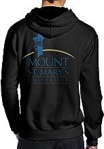 BFWL Men's Hooded Sweatershirts Hoodies Mount St. Mary's University MSM Black