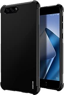 ZenFone 4 Case, CASEVASN [Shockproof] Anti-Scratches Flexible TPU Gel Slim Fit Soft Skin Silicone Protective Case Cover for Asus ZenFone 4 ZE554KL (Black)