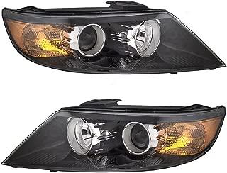 Halogen Headlights Headlamps Driver and Passenger Replacements for 11-13 Kia Sorento SUV 92101-1U200 92102-1U200