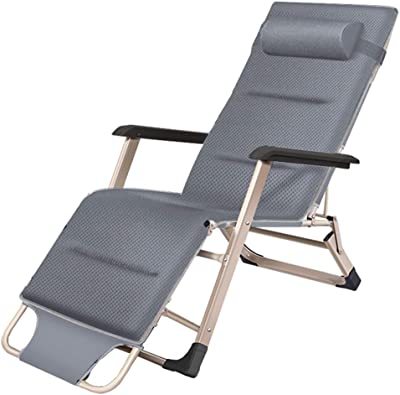 Zero Gravity Recliner Chairs Outdoor Sun Lounger Recliner Foldable Reclining Chair Garden Leisure Chair with Cushion for Patio, Camping, Beach, Deck 250kg Capacity - Gray