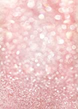 LYWYGG 5X7FT Party Backdrop Pink Bokeh Background Art Fabric Newborn Backdrop Children Photography Props Photo Background Baby Shower Photo CP-126