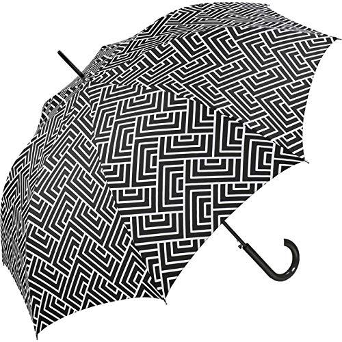 Pierre Cardin Paraguas blanco y negro.