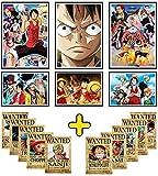 Poster One Piece: Set mit 6 Manga-Poster + 10 Karten Prime